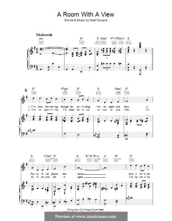 A Room with a View: Para vocais e piano (ou Guitarra) by Noel Coward