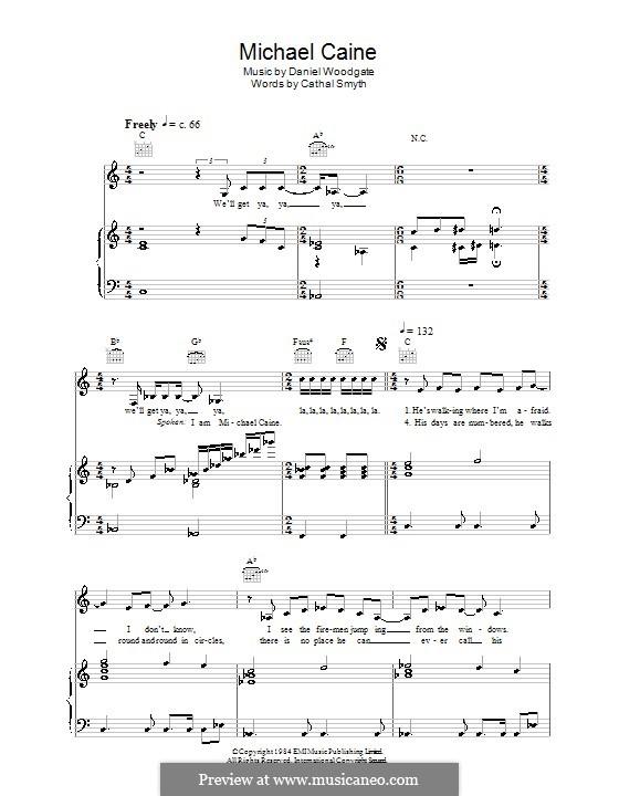 Michael Caine (Madness): Para vocais e piano (ou Guitarra) by Chas Smash, Daniel Woodgate