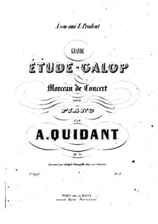 Grand Etude-Galop, Op.21: Para Piano by Alfred Quidant