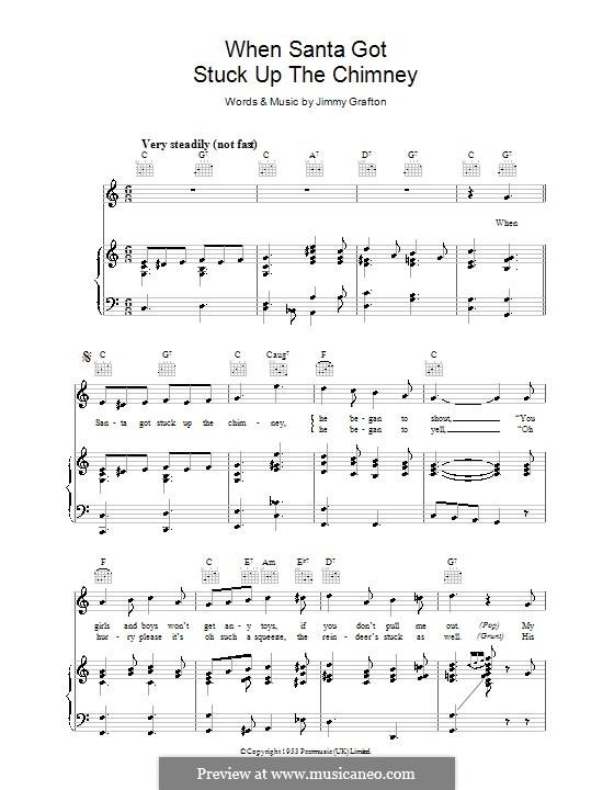 When Santa Got Stuck Up the Chimney: Para vocais e piano (ou Guitarra) by Jimmy Grafton