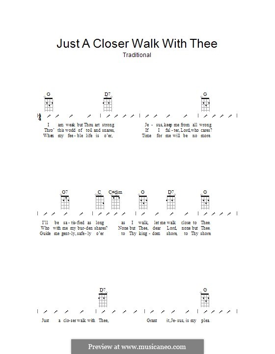 Just a Closer Walk with Thee: ukulele com parte dedilhada by folklore