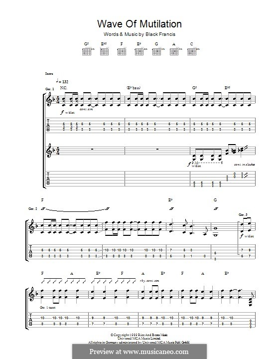Wave of Mutilation (The Pixies): Para guitarra com guia by Black Francis