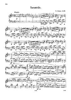 Tarantella in A Flat Major, Op.43: Para Piano by Frédéric Chopin