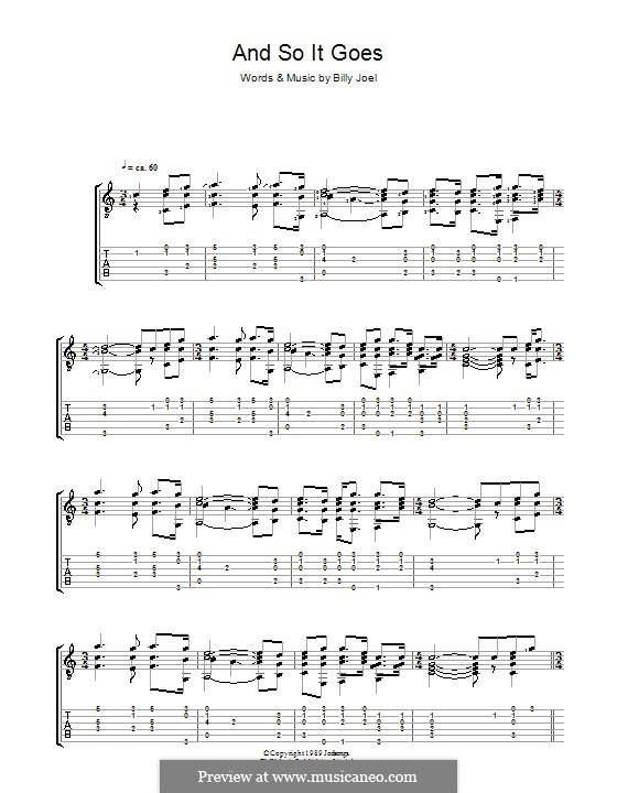 And So It Goes: Para guitarra com guia by Billy Joel