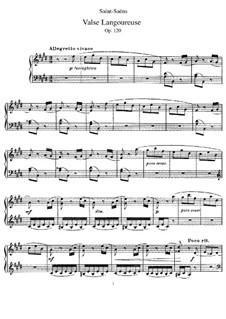 Valse langoureuse (Languid Waltz), Op.120: Para Piano by Camille Saint-Saëns