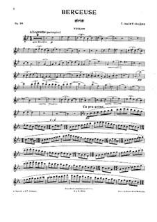 Lullaby, Op.38: canção de ninar by Camille Saint-Saëns