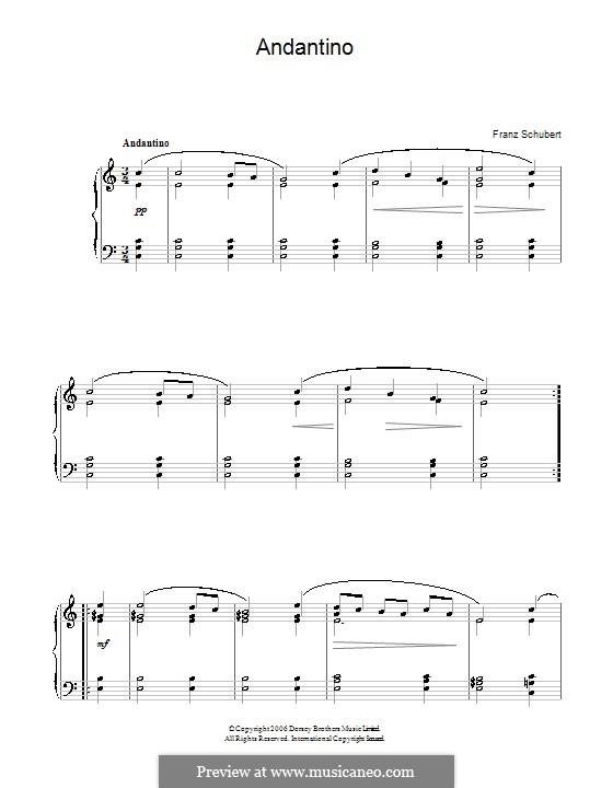 Andantino in C Major: Andantino in C Major by Franz Schubert