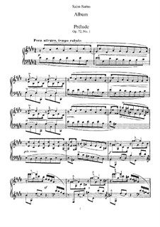 Album for Piano, Op.72: Album for Piano by Camille Saint-Saëns