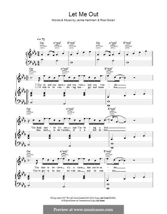 Let Me Out (Ben's Brother): Para vocais e piano (ou Guitarra) by Jamie Hartman, Rosi Golan