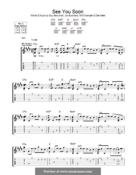 See You Soon (Coldplay): Para guitarra com guia by Chris Martin, Guy Berryman, Jonny Buckland, Will Champion