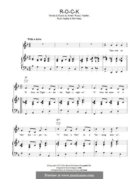 ROCK: Para vocais e piano (ou Guitarra) by Bill Haley