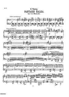 Fantasia on Theme from 'Halka' by Moniuszko: Fantasia on Theme from 'Halka' by Moniuszko by Carl Tausig