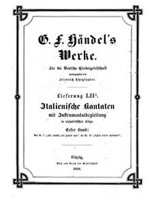 Italian Cantatas with Instrumental Accompaniment: Volume I by Georg Friedrich Händel