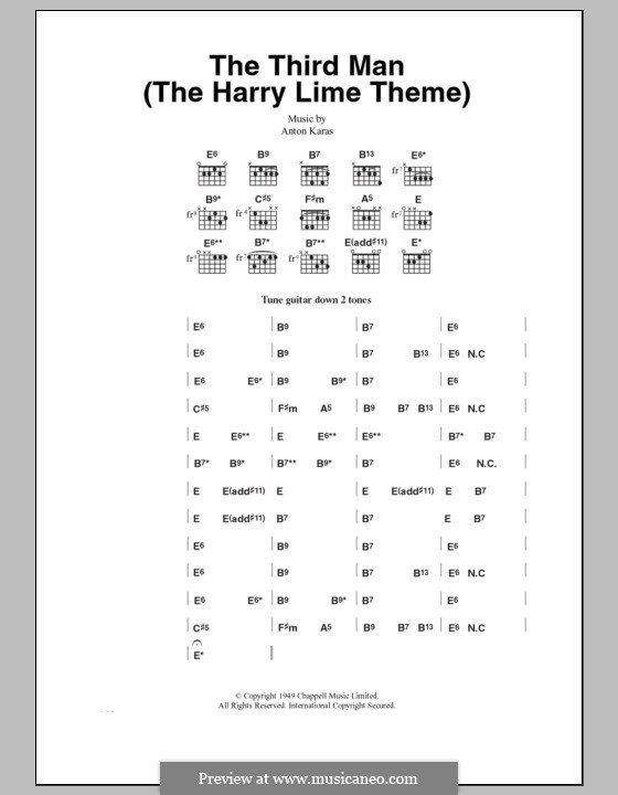 The Third Man (The Harry Lime Theme): Letras e Acordes by Anton Karas