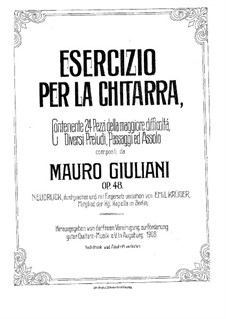 Twenty-Four Etudes for Guitar, Op.48: set completo by Mauro Giuliani