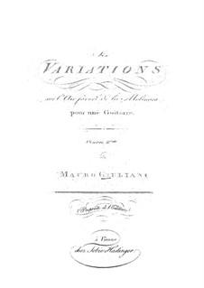 Six Variations for Guitar, Op.4b: Seis variações para guitarra by Mauro Giuliani