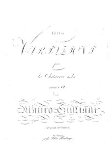Eight Variations for Guitar, Op.6: For a single performer by Mauro Giuliani