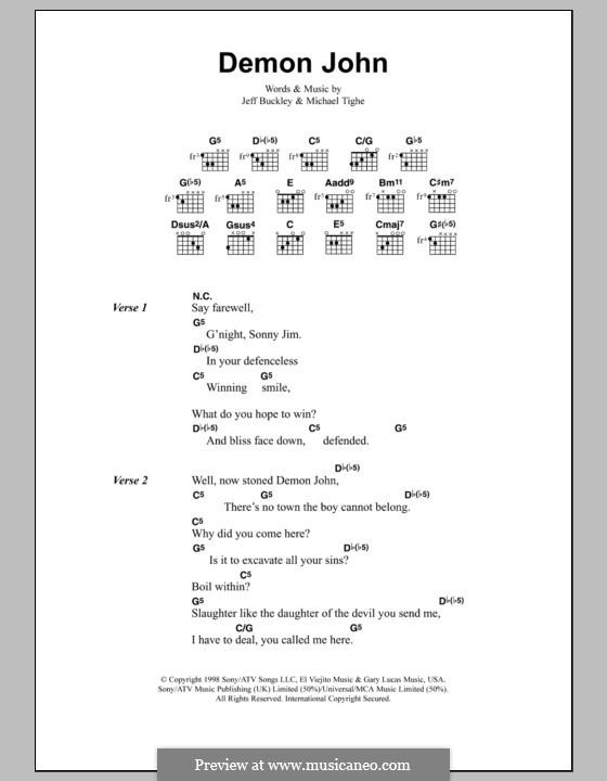 Demon John: Letras e Acordes by Michael Tighe