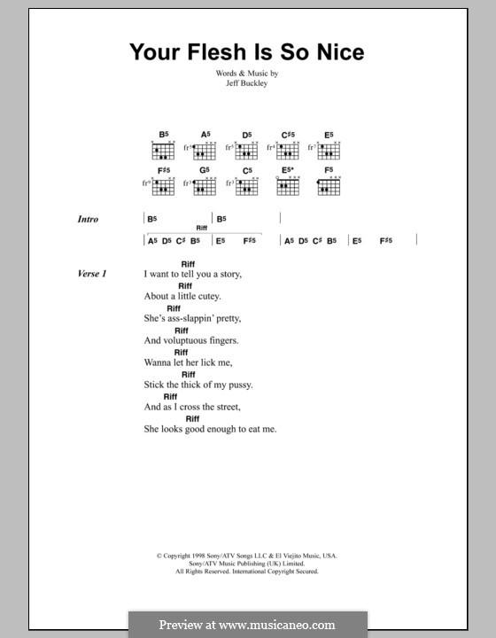 Your Flesh Is So Nice: Letras e Acordes by Jeff Buckley