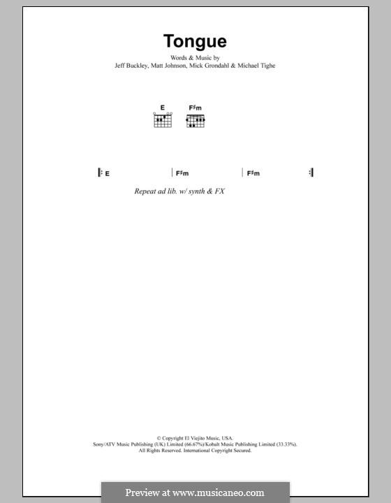 Tongue: Letras e Acordes by Matthew Johnson, Michael Tighe, Mick Grondahl