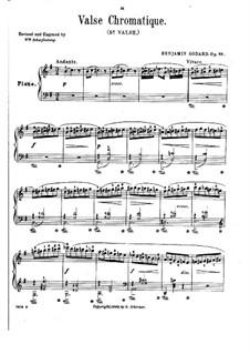 Valse Chromatique (Chromatic Waltz), Op.88: Para Piano by Benjamin Godard