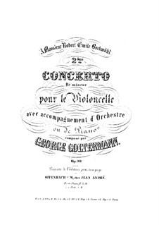 Cello Concerto No.2 in D Minor, Op.30: versão para violoncelo e piano by Georg Goltermann