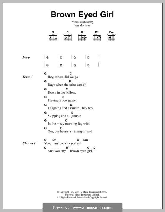 Brown Eyed Girl: Letras e Acordes by Van Morrison