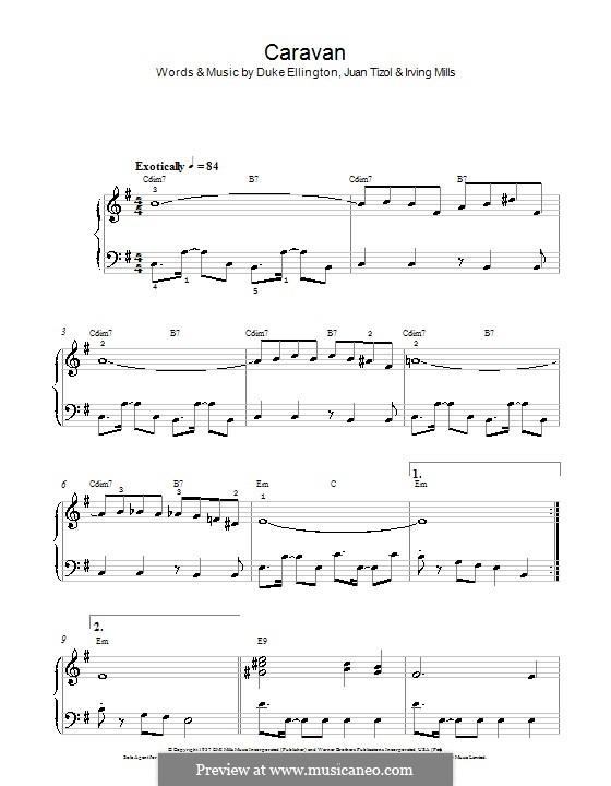 Caravan (Les Paul): Facil para o piano by Irving Mills, Duke Ellington, Juan Tizol