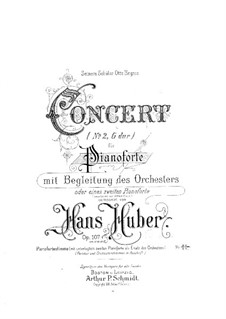 Piano Concerto No.2, Op.107: Versão para dois pianos de quatro mãos by Hans Huber