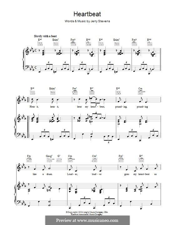 Heartbeat: Para vocais e piano (ou Guitarra) by Jerry Stevens