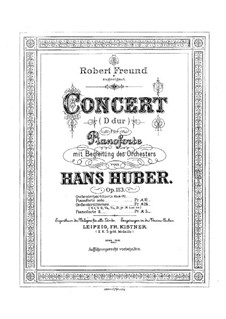 Piano Concerto No.3, Op.113: Version for two pianos eright hands – piano I part by Hans Huber