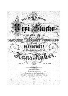 Three Pieces in Ancient Style, Op.14: Para Piano by Hans Huber