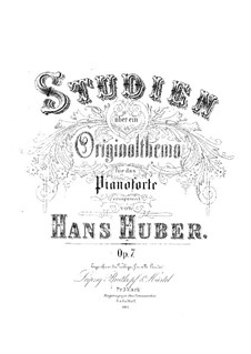 Etudes on Original Theme, Op.7: Etudes on Original Theme by Hans Huber