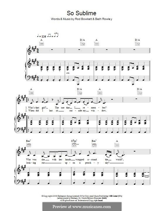 So Sublime: Para vocais e piano (ou Guitarra) by Rod Bowkett