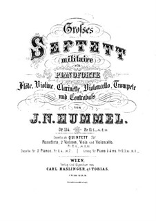 Septet No.2 in C Major, Op.114: Septet No.2 in C Major by Johann Nepomuk Hummel