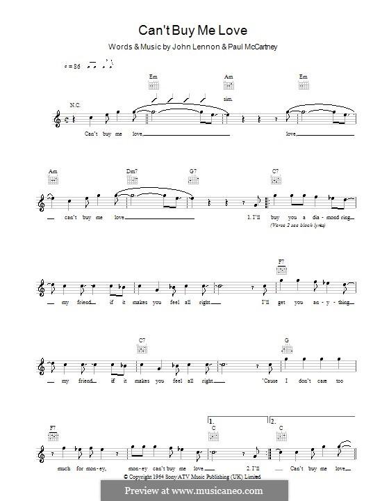 Piano-vocal version: melodía,letras e acordes by John Lennon, Paul McCartney