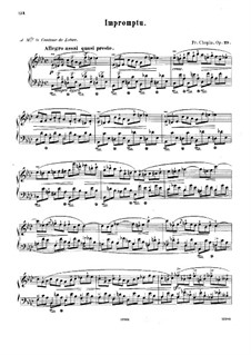 Impromptu No.1 in A Flat Major, Op.29: Para Piano by Frédéric Chopin