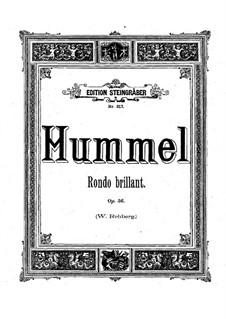 Rondo Brilliant, Op.56: Rondo Brilliant by Johann Nepomuk Hummel