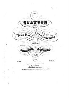 String Quartet No.3 in E Flat Major, Op.77: quarteto de cordas No 3 em E flat maior by Franz Paul Lachner