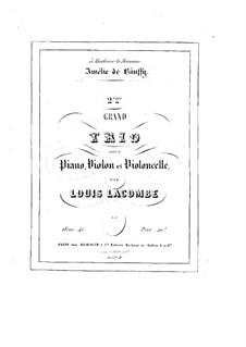 Piano Trio No.2, Op.41: trio de piano No 2 by Louis Lacombe