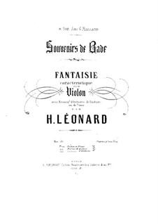 Souvenirs de Bade, Op.30: Souvenirs de Bade by Hubert Léonard