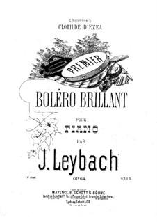 Boléro brillant No.1, Op.64: Para Piano by Joseph Leybach