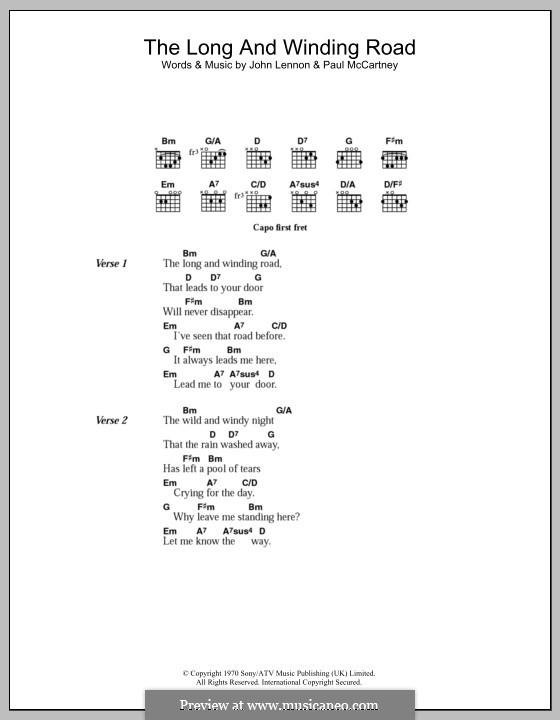 The Long and Winding Road (The Beatles): Letras e Acordes by John Lennon, Paul McCartney