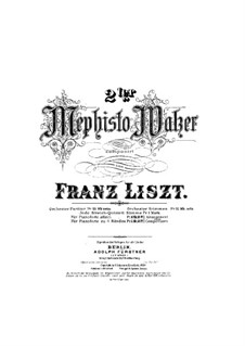 Waltz No.2 in E Flat Major, for Piano Four Hands, S.600: Waltz No.2 in E Flat Major, for Piano Four Hands by Franz Liszt