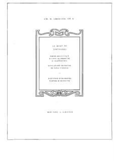 Symphonic Poem 'La mort de Tintagiles', Op.6: Symphonic Poem 'La mort de Tintagiles' by Charles Martin Loeffler