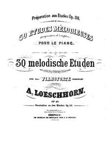 Thirty Melodic Etudes: Volume II, No.11-20 by Carl Albert Loeschhorn