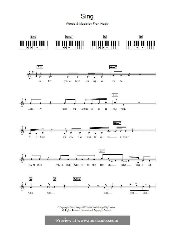 Sing (Travis): para teclado by Fran Healy