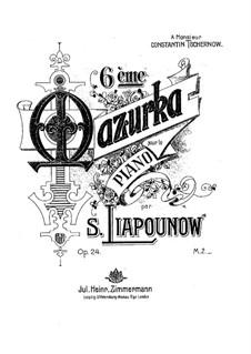 Mazurka No.6, Op.24: Mazurka No.6 by Sergei Lyapunov