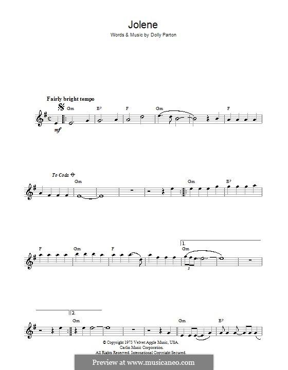 Jolene: para saxofone by Dolly Parton