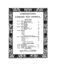 Three Poems for Piano Four Hands, Op.20: Three Poems for Piano Four Hands by Edward MacDowell